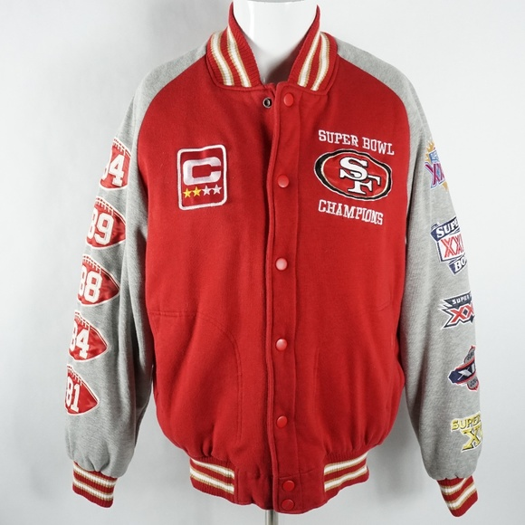 d7f00ee0 NFL Mens Jacket Size Medium San Francisco 49ers